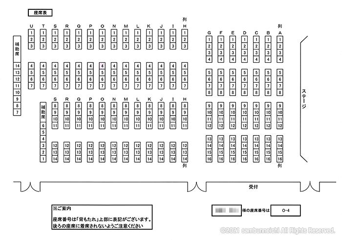 座席表|倉庫管理主任者講習会